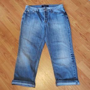 Victoria's Secret London jeans crop capri
